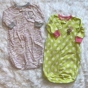 $4 Sale Girls Size 0-9 Months Sleep Sacks